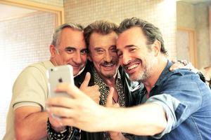 Antoine Duléry, Johnny Hallyday, Jean Dujardin dans «Chacun sa vie» de Claude Lelouch en salle le 15 mars.