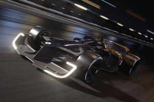 Renault a pensé à diffuser des messages dans les roues pour signaler, par exemple, dans combien de tours la monoplace va s'arrêter dans les stands.