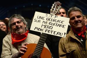 Des fans venus au concert de Renaud