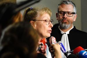 Liliane Glock et Alexandre Bouthier, les avocats de Francis Heaulme, mardi, au tribunal de Metz.