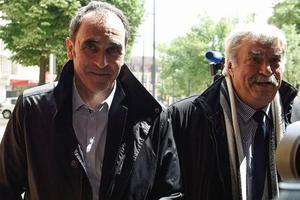 Le gendarme Jean-François Abgrall, à son arrivée au tribunal de Metz.