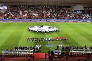 le stade Louis II avait fait le plein pour la réception de Dortmund