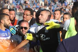 Anthony Lopes à Bastia lors des incidents