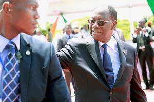 Le président ivoirien, Alassane Ouattara, le 1er mai à Abidjan.