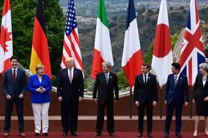 Photo de famille du G7.
