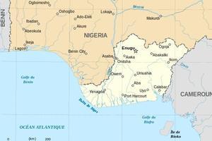 Le Biafra, au sud-est du Nigeria, représente moins de 10% du territoire nigerian.