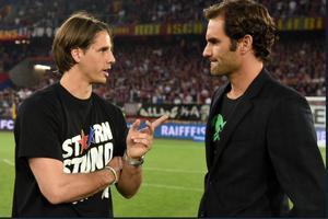 Roger Federer est venu pour célébrer Bernhard Heusler