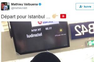 Valbuena a confondu les drapeaux de la Tunisie et de la Turquie