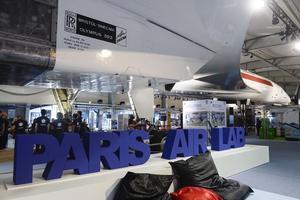 Dans le hall du Musée de l'Espace, Paris Air Lab voisine avec Concorde (Gilles Rolle/Rea)