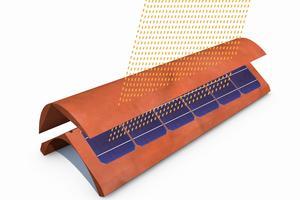 Une tuile photovoltaïque de Dyaqua.