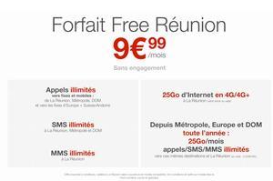 L'offre Free Réunion.
