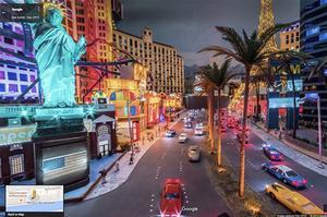 La version réduite de Las Vegas dans Street View. (Google)