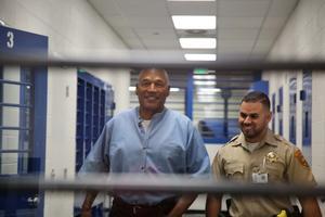 O.J. Simpson dans sa prison du Nevada.
