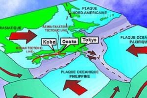 Le Japon se trouve sur quatre plaques tectoniques