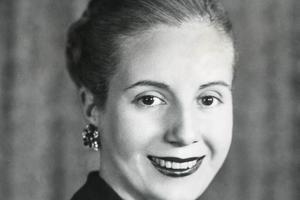 La petite actrice, Eva Peron, devenue première dame, ici en 1948.