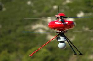 Un drone utilisé par les pompiers. Crédits Photo: Bertrand Langlois/AFP)