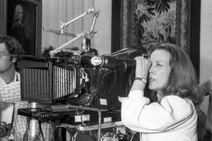 Jeanne Moreau sur le tournage de son film