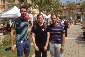 Hugo, Lucas et Manuel, militants de la France insoumise.