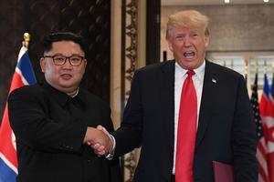 Trump et Kim à Singapour.