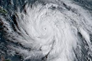 L'ouragan Irma photographié par satellite, mardi. Il s'agit du quatrième ouragan majeur de la saison.