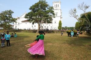 LA cathédrale Saint Catherine , à Goa. Crédit photo: Olivier Roques Rogery