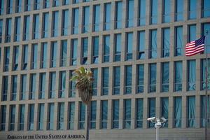 L'ambassade des États-Unis à La Havane.