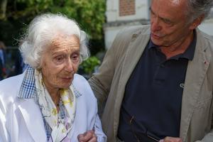 Avec son fils Jean-Claude, en 2014.