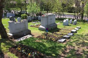 La tombe de Léonard Cohen ne porte aucune indication. Mais elle se trouve à côté du caveau familial. © Guillaume de Dieuleveult