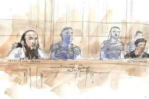 Abdelkader Merah et Fettah Malki devant le tribunal.