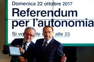 L'ancien président Silvio Berlusconi s'était prononcé en faveur du oui. Reuters / ALESSANDRO GAROFALO.