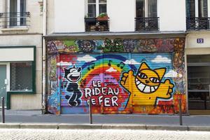 Monsieur Chat dans le XVIIIe arrondissement de Paris.