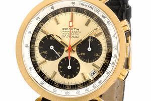 Présenté à la presse <br/>en janvier1969, <br/>ce chronographe <br/>El Primero de Zenith bat à 36000 alternances par heure.