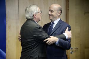 Juncker et Juppé en février 2016