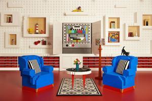 Le salon de la Lego House.