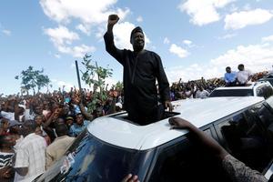 L'opposant Raila Odinga, ce mardi.