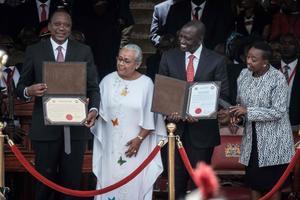Investiture d'Uhuru Kenyatta.