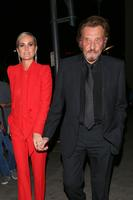 Johnny Hallyday et sa femme Laeticia à Beverly Hills, Los Angeles, le 9 novembre 2016.