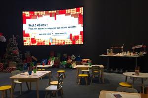 L'espace réservé aux ateliers et animations sur la mezzanine du Pathé La Villette (XIXe)