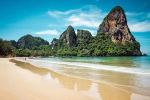 Plage de la province de Krab,i en Thaïlande