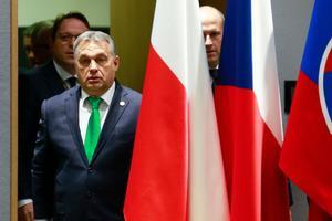 Viktor Orban, lors d'une réunion du groupe de Visegrad, en décembre 2017.