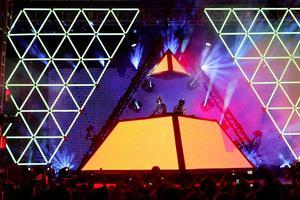 Vue du concert des Daft Punk en 2006.