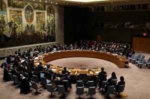 Le conseil de sécurité des Nations unies le 22 décembre 2017.