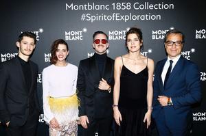Pierre Niney, Macarena Gomez, Aldo Comas, Charlotte Casiraghi, avec le président de Montblanc Nicolas Baretzki.