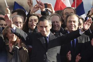 François Fillon au Trocadéro, le 5 mars.