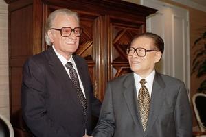 Billy Graham et le président Chinois, Jiang Zemin en 1997.