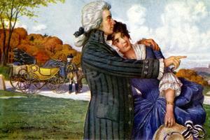 Le compositeur autrichien Wolfgang Amadeus Mozart et sa femme Constance lors de leur lune de miel, 1782.