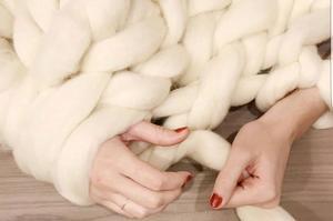 Arm knitting chez Seize.