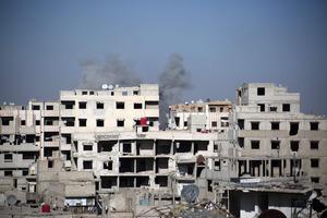 Un bombardement à la Ghouta, ce jeudi.