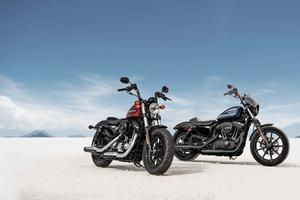 Les deux nouveaux modèles d'Harley-Davidson.
