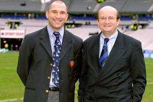 Thierry Lacroix et Pierre Salviac en 2001.